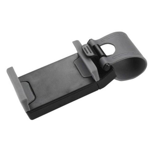 Reiko Car Steering Wheel Phone Socket Holder Gray