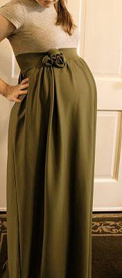 homemade maternity dress