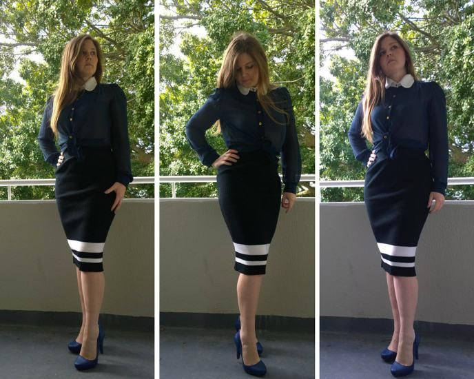 Wear one skirt four ways - how to wear a pencil skirt