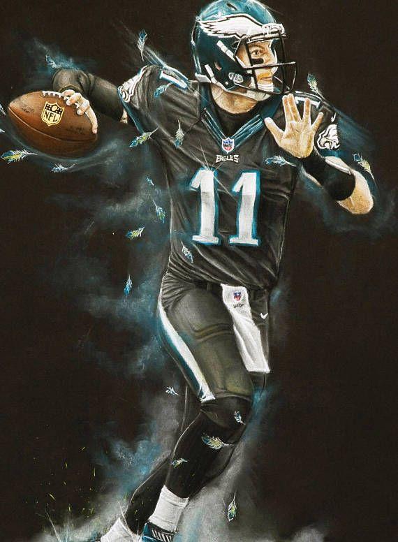 6f7260b9 Philadelphia Eagles - Carson Wentz Art Print - Carson Wentz - Wall ...