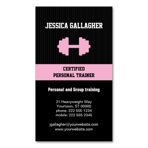 Best 25 Personal trainer business cards ideas on Pinterest