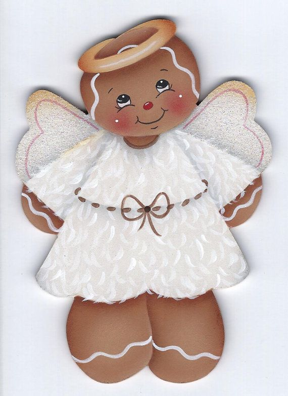 Christmas Gingerbread Angel clip art