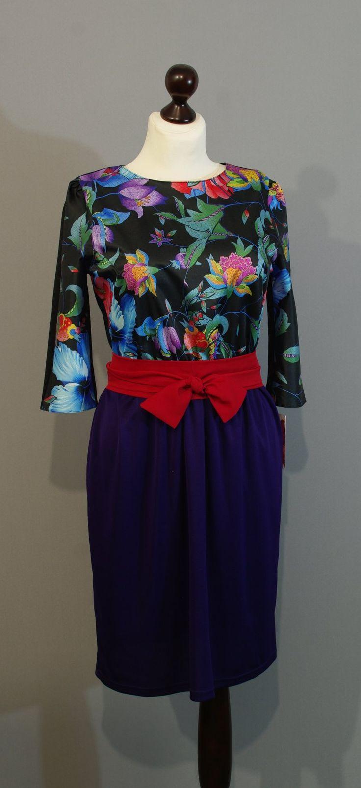 Фиолетовое платье-тюльпан от дизайнера Юлии, Платье-терапия Киев lucky-gift (153)