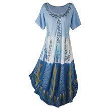 Embellished Ombré Swing Dress