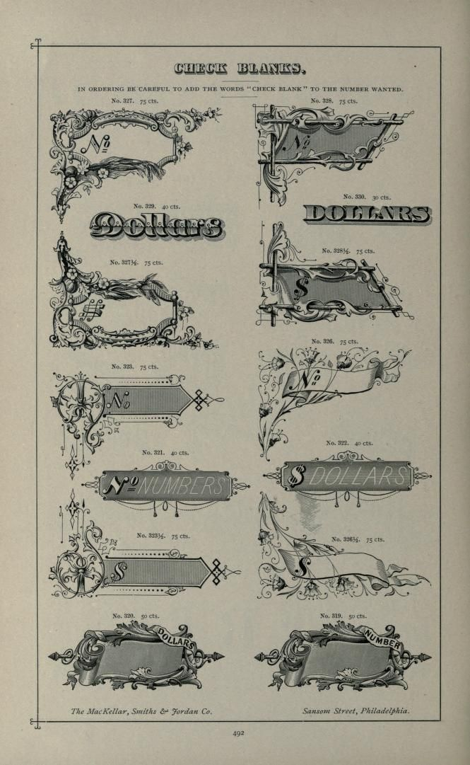 Specimens of printing types : ornaments, border...