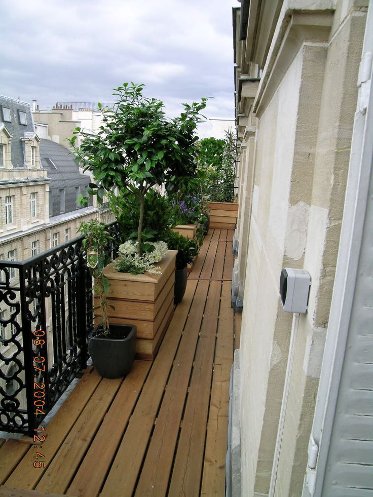 gallerie balcon paris xvii plancher decelle jpg garden pinterest terrass balkong och deco. Black Bedroom Furniture Sets. Home Design Ideas