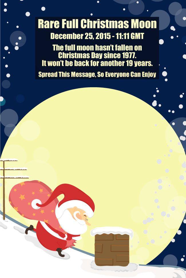See Santa This December 25th-Full Moon! - http://www.legacyinsurancenwf.com/see-santa-this-december-25th-full-moon/