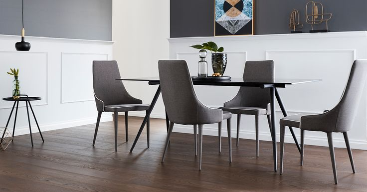 Clarion Dining with Boston Chairs, available at Focus On Furniture.