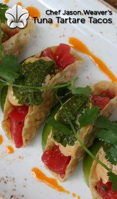 Tuna Tartare Tacos Omni Dallas Hotel Chef Jason Weaver