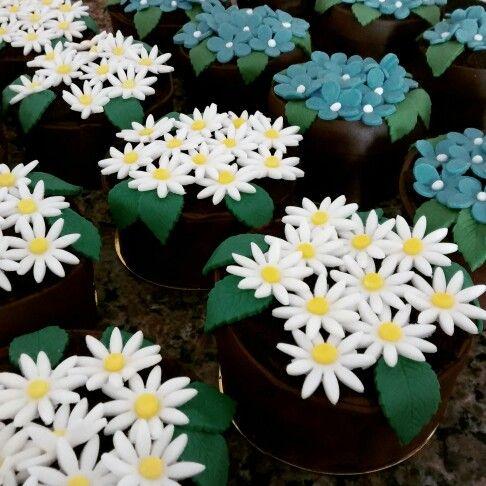 Bolo/Vasinhos decorados