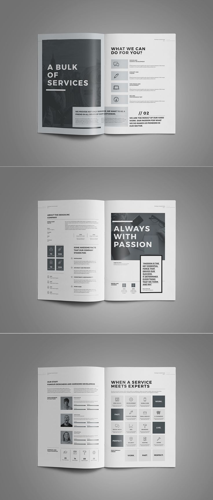 Proposal and portfolio templateminimal and professional proposal brochure template for creative for Adobe brochure templates