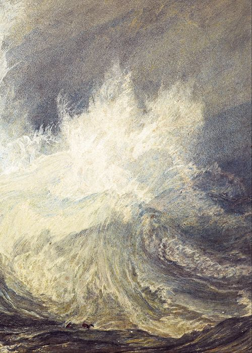 Joseph Mallord William Turner ~ Bell Rock Lighthouse (detail), 1819 (watercolour, gouache)