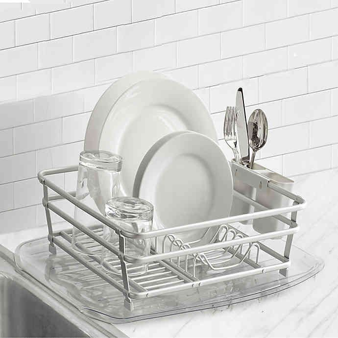 Org Aluminum Dish Rack In 2020 With Images Dish Racks Kitchen