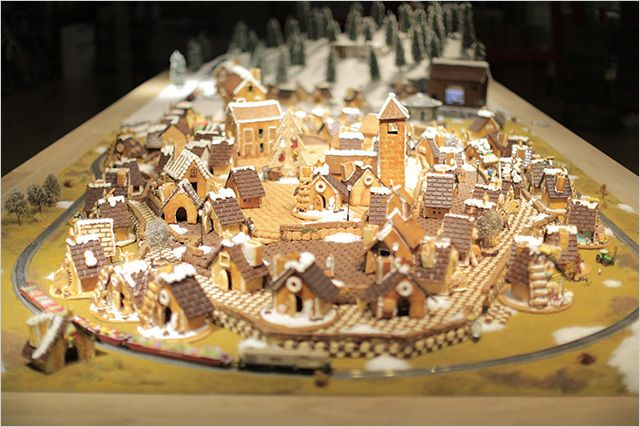 Muji, the stylish Japanese department store, has commissioned a 100-house gingerbread town called Yurakucho,