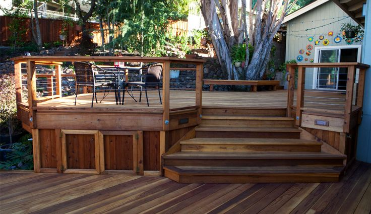 redwood deck project plans redwood decks pinterest