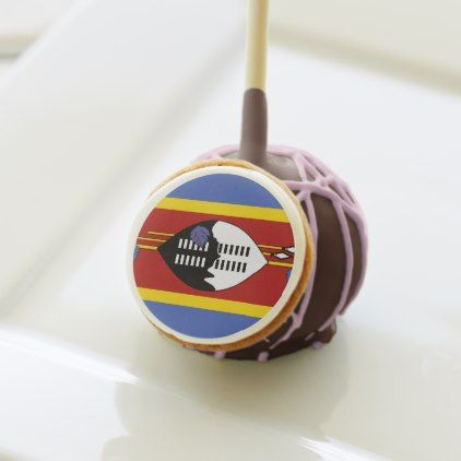 #Swaziland Flag Cake Pops - #country gifts style diy gift ideas