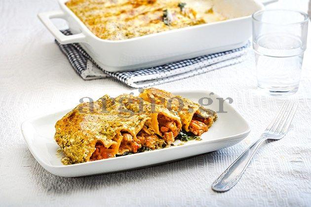 Κανελόνια με σπανάκι, κοτόπουλο και  πέστο (Το Πρωινό 10.03.14)