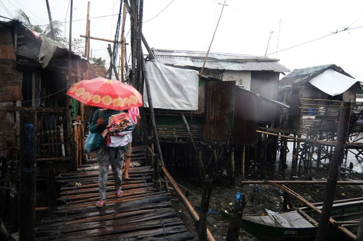 massive typhoon slams philippines | ... Typhoon Haiyan batters the central Philippines with sustained winds of