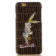 Moschino iphone7/6splusケースシンプルアイフォン保護カバー ハードケースキャラクターBugs Bunnyバッグス・バニー送料無料