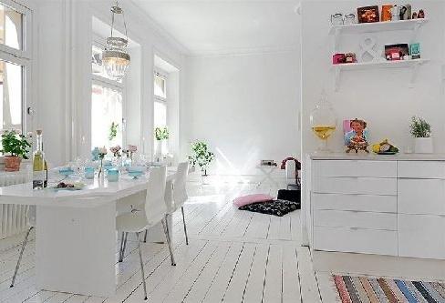 Love the white floors