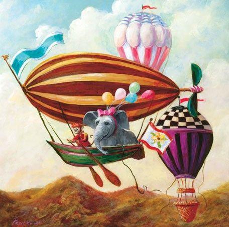3.  Antique Balloon Elephant   #Oopsydaisy  #ArtForKids