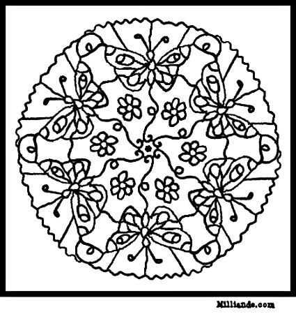 Colouring Pages Of Flowers And Butterflies : 114 best coloring pages images on pinterest