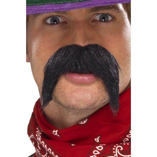 A single Large black /'Handlebar/' moustache for a fancy dress party