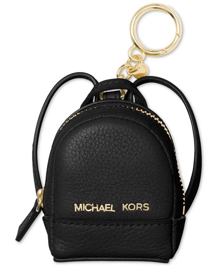 NWT In Box $68 Michael Kors Rhea Backpack Key Fob Charm Coin Purse! Black | Clothing, Shoes & Accessories, Women's Accessories, Key Chains, Rings & Finders | eBay!