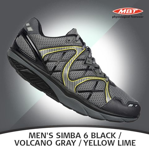 The Men's Simba is the classic, indispensable sports shoe.Fashioned with dynamic crisscrossing lines, these shoes never fail to catch the eye. Available in Black, Volcanic Gray, and Yellow Lime.