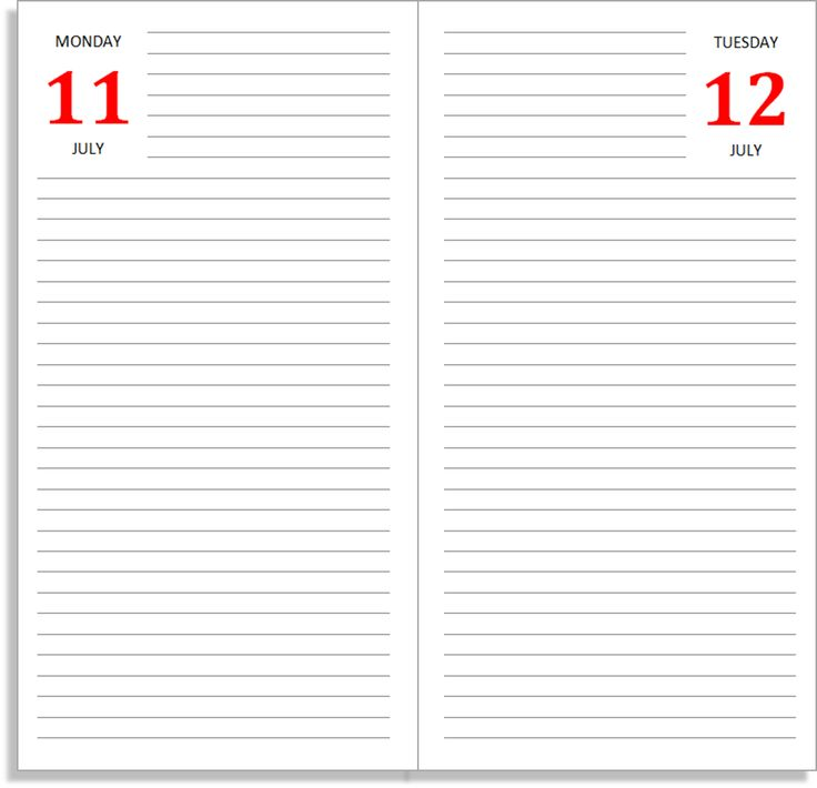 My Life All In One Place: The Daily Diary Midori Insert   Free Files For  Diary Paper Printable