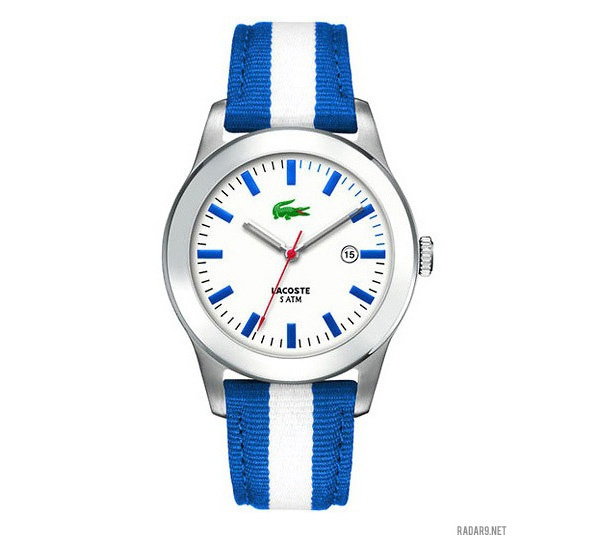 Lacoste Advantage White Dial Blue And White Strap Mens Watch