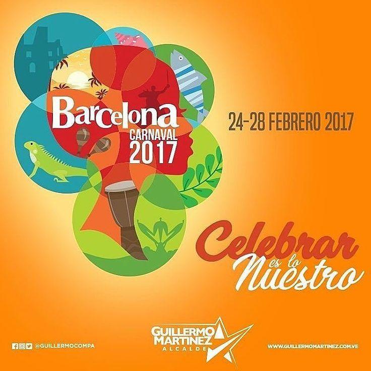 Tenemos todo listo para vivir un experiencia única! La mejor opción es venir a #Barcelona este #Carnaval2017. Música alegría deporte y tradición en un solo lugar. Regálate la oportunidad de disfrutar una temporada diferente. Como #DisfrutarEsloNuestro del 24 al 28 de febrero tendremos espectáculos musicales toros coleados comparsas y carrozas y mucho más en la Plaza Rolando ubicada en el corazón de nuestro Centro Histórico la avenida Fuerzas Armadas y Caicara. Ven y vive el Carnaval con…
