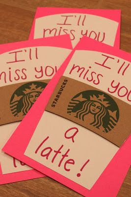 Cute idea with a Starbucks gift card!