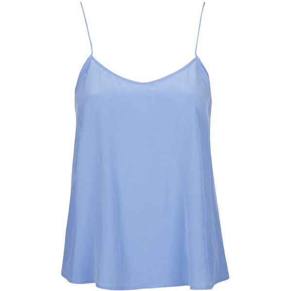 Sandwashed Silk Cami by Boutique (135 BAM) ❤ liked on Polyvore featuring tops, shirts, tank tops, blue, blusas, silk cami, blue tank, silk camisole, blue cami and blue shirt