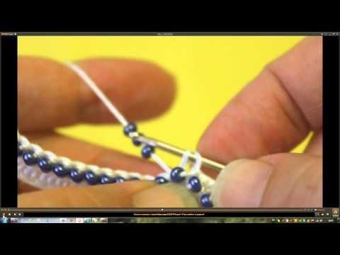 """Вязание с бисером. Урок №7. """"Вязание прямого полотна"""""""