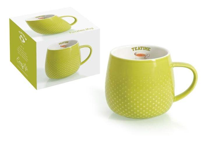 Кружка из фарфора светло-зеленая «Капли дождя»      Бренд: Easy Life (Nuova R2S) (Италия);   Страна производства: Китай;   Материал: фарфор;   Объем: 0,32 л;          #tea #porcelain #фарфор #посуда #чай