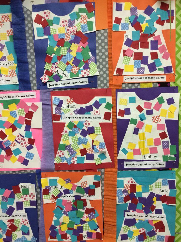 Joseph's coat of many colors | Bible Lessons | Preschool ...