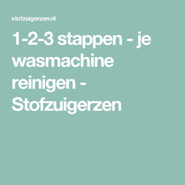 1-2-3 stappen - je wasmachine reinigen - Stofzuigerzen