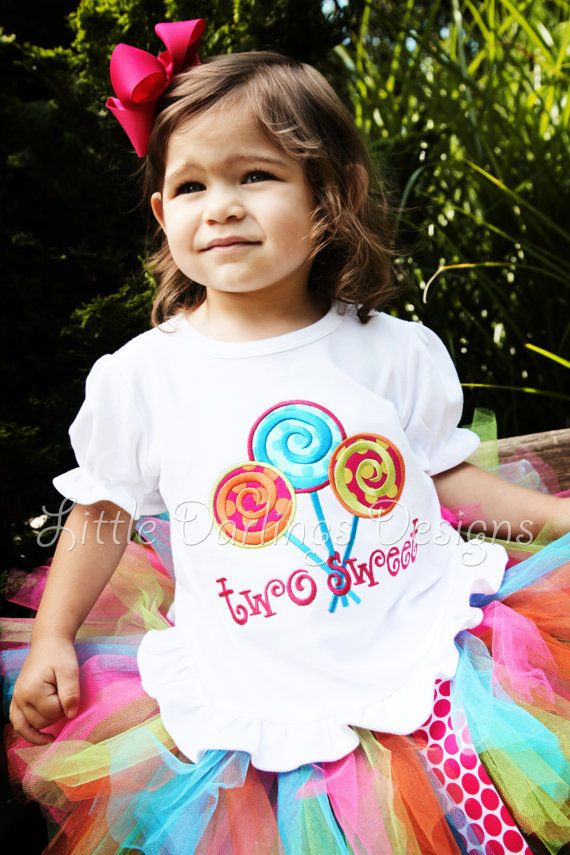 Two Sweet Lollipop Birthday Shirt   Perfect by LilDarlingsDesigns, $25.00