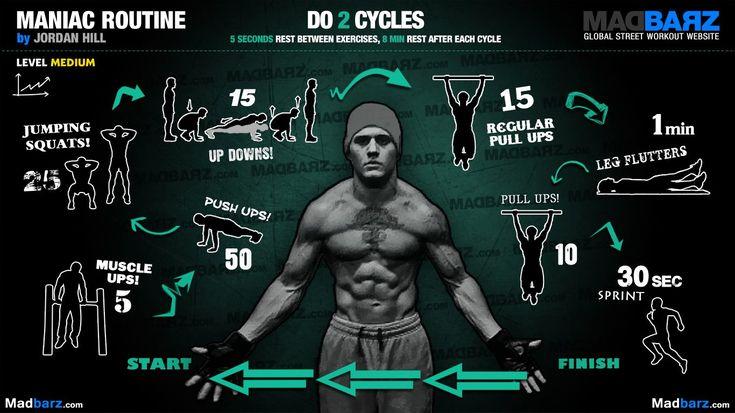 Maniac routine by Jordan Hill !! (total body)  http://madbarz.com/