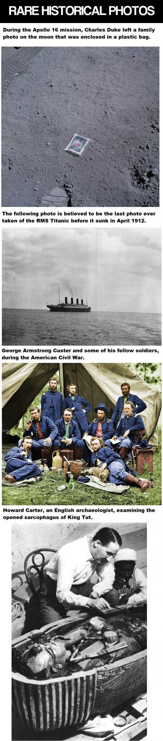 Rare historical photographs.