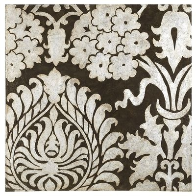 Opulence Art, Detail Of A Bold Damask Pattern, Silver Foil Painted On  Black/ At Pier One. Hay I Own This! Part 65