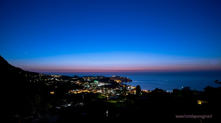 "[Ischia Hotel Ape Regina's Panorama]  ""It is almost impossible to watch a sunset and not dream."" cit. Bern Williams"
