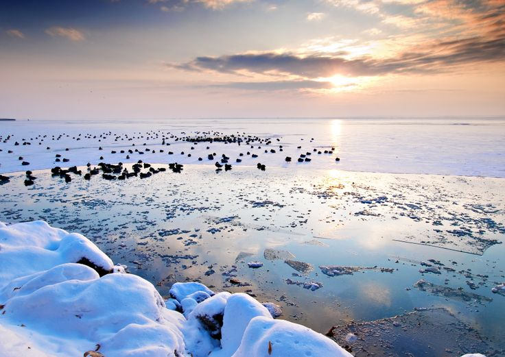 Balaton . Télen is csodás a panoráma. Hungary