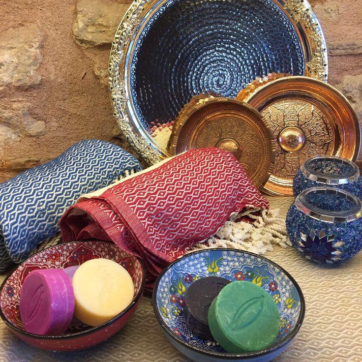 Turkish Hammam pieces by Grand Bazaar Shopping, Hammam Bowls, Turkish Peshtemals, Hammam Soaps www.grandbazaarshopping.com