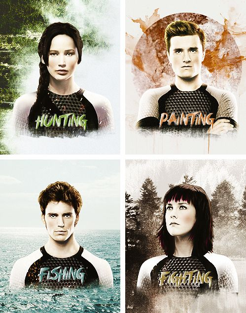 Hunting, painting, fishing & fighting in #CatchingFire