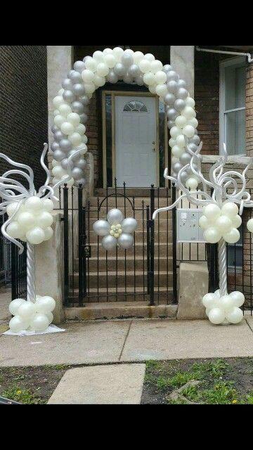 balloon arch and columns!!