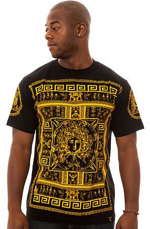 The Rhyme Tee in Black and Gold by Last Kings use rep code: OLIVE for 20% off!