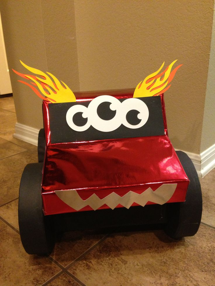 "Valentine's mailbox - it's a ""Love Monster"" monster truck!"