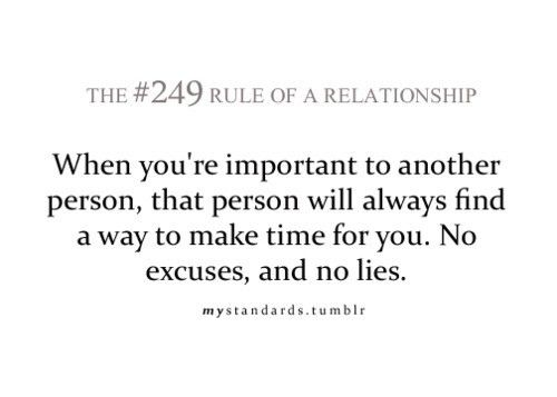 Rules Of A Relationship If You Care You Will Make Time For Them No